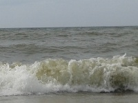 wzburzone morze w Bobolinie