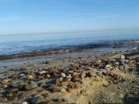 spokojne morze w Bobolinie
